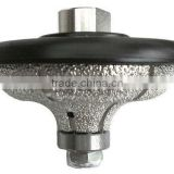 V shape full bullnose granite router bit/diamond profile wheel