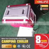 Camping Cooler Box With Fold-able Table and Chair
