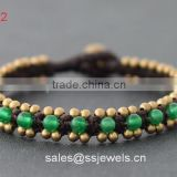 Personlized Green Jade Beaded Bracelets Custom Handmade Jewellry Thailand Style Wholesale China Supplier