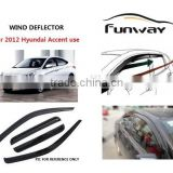 window vent visors,window deflectors,car rain visor,car accesories For 2012 Hyundai Accent