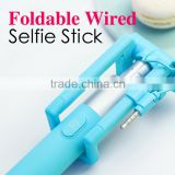 2015 New Mini Wired Extendable Selfie Stick Handheld Monopod For iPhone Samsung HTC Oppo Mobile Phone