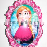 Hot sale New Mirror shape princess shape foil balloon/mylar , promotion balloon customized foil balloon