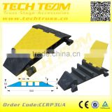 Flexible 3 Channels CCRP3UA Cable Protector In Rubber Material Hump Cable Protector Floor