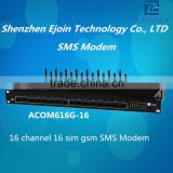 NEW Ejoin sms gateway hardware product, 16 channel SMS receiving/bulk sending, AT command compatible