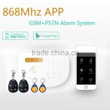 Wireless GSM Auto Dial alarm, smart App security alarm CID network home GSM alarm system wireless