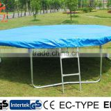 14ft outdoor trampoline with rain cover and ladder for sale
