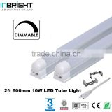 2ft 10W base rotatable dimmable t8 led fluorescent lamp
