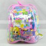 Custom Printed Top Quality Eco-friendly Transparent PVC Children's Toy Jelly Gift Backpack Shoulders packaging bag