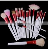 20pcs professional goat hair handmade makeup brush set/cosmetic brushes kit/private label free sample with make up pouch