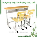 auditorium desk and chair of fireproof wood school writing desk and chair adjustable plastic chair student table