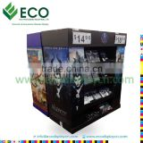 Attractive DVD DisplayRack with Corrugated Material, Cardboard Display for CD DVD, Comic Book Display Rack