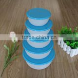 5 pcs Reusable Round PP Plastic Containers, Plastic Bowl, Plastic Food Storage Box, Plastic Food Storage Container