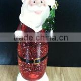 led snow man Swirling Glitter Water Christmas Ornament Xmas Decoration Colour Changing Light