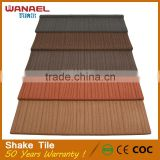 Factory in stock colorful stone coated plain roof tiles for garden craft