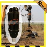 Auger for earth drilling matched with 4-wheel tractor for digging hole