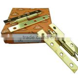 CROWN HEAD GOLD PLATED H TYPE HEAVY DUTY HINGES WITH SCREWS