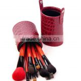 top quality 12 pcs cylinder case makeup brush set boots