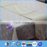 metallic Gold Printing polyester jacquard square table runner                                                                         Quality Choice