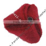 Handmade Woven Cloth Beads, Triangle, DarkRed, Size: about 27mm long, 28mm wide, 28mm thick, hole: 3mm(FIND-P010-1)