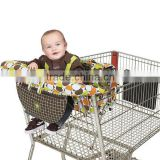 Infant 2-in-1 cushy cart cover and seat positioner take cover shopping cart high chair cover trolley capsule cover change mate