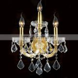 Antique Gold Cristal Chandelier Candle Wall Lamp for Wedding Hall Decoration