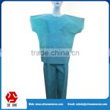 Factory price skin-friendly sterile non woven SMS Medical hospital patient surgical gown