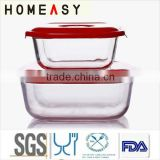 hot sale glass baking pan with lid/hot sale glass cooking pan