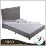 Fabric lift-up double bed frame /dark grey colour bedframe PY-9904C