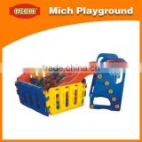 Indoor playground with Basketball goal toy, slide, ball pool 1198F