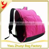 Simple Fashionable Adult Mama Baby Diaper Backpack Bags in Hot Pink