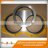 concrete pump parts tungsten carbide hard face wear plate and cutting ring                                                                                                         Supplier's Choice