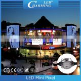 Hotel building wall outdoor light decorative music video pixel display high bright lighting