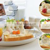 kitchenware utensils cooking items decoration tools 1 bread sandwich cutter 3 animal stamps set 76189