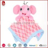 ICTI SEDEX factory top quality cute promotional baby plush comforter blanket                                                                         Quality Choice