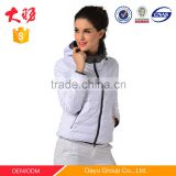 Woman hoodie winter designer sexy white formal lady coat varsity jacket wholesale