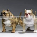 made dog toys OEM bull dog statues custmoize 3d animal sculptures.