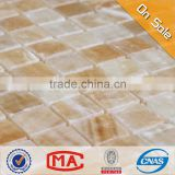 hot sale good quality yellow jade square stone mosaic tiles for wall verona beige tile wall tile home depot decoration
