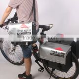 PVC tarpaulin Double bicycle rear bag pannier bike bag
