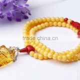 New Arrival Polyresin Imitation Beeswax Rosary, Beaded Essential Oil Aroma Diffuser Pendant Necklace Wholesales