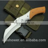 foldable pocket folding bat knife g 10 handle, boning knife
