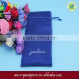 Wholesale high quality plush velvet pencil pouch with custom logo