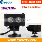 China factory wholesale high power offroad LED light bar one row single row 20W 4X4 accessories