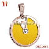 Stingray leather inlay big stone pendant design simple gold pendant design, quantum pendant price in india