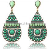 2016 Emerald jewelry luxury water drop new design summer fancy drop earrings