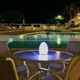 Environmental protection PE warm RGB light plastic waterproof LED table lamp/lantern