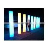 light pillar/color changing pe plastic solar light for garden event party furniture led plastic pillars