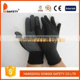 White Mini PVC Dots Gloves13 Gauge Nylon Gloves With Cotton Yarn Polyester Seamless Working Gloves