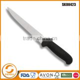 Factory direct kitchen stainless steel carving knife in plastic handle