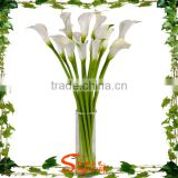 New design factory direct selling silk flower heads and common callalily artificial flower
