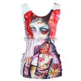OEKOTEX-CERTIFICATE Factory Custom elastane dye sublimation sleeveless shirt